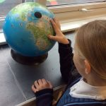 KS2 globe work finding continents